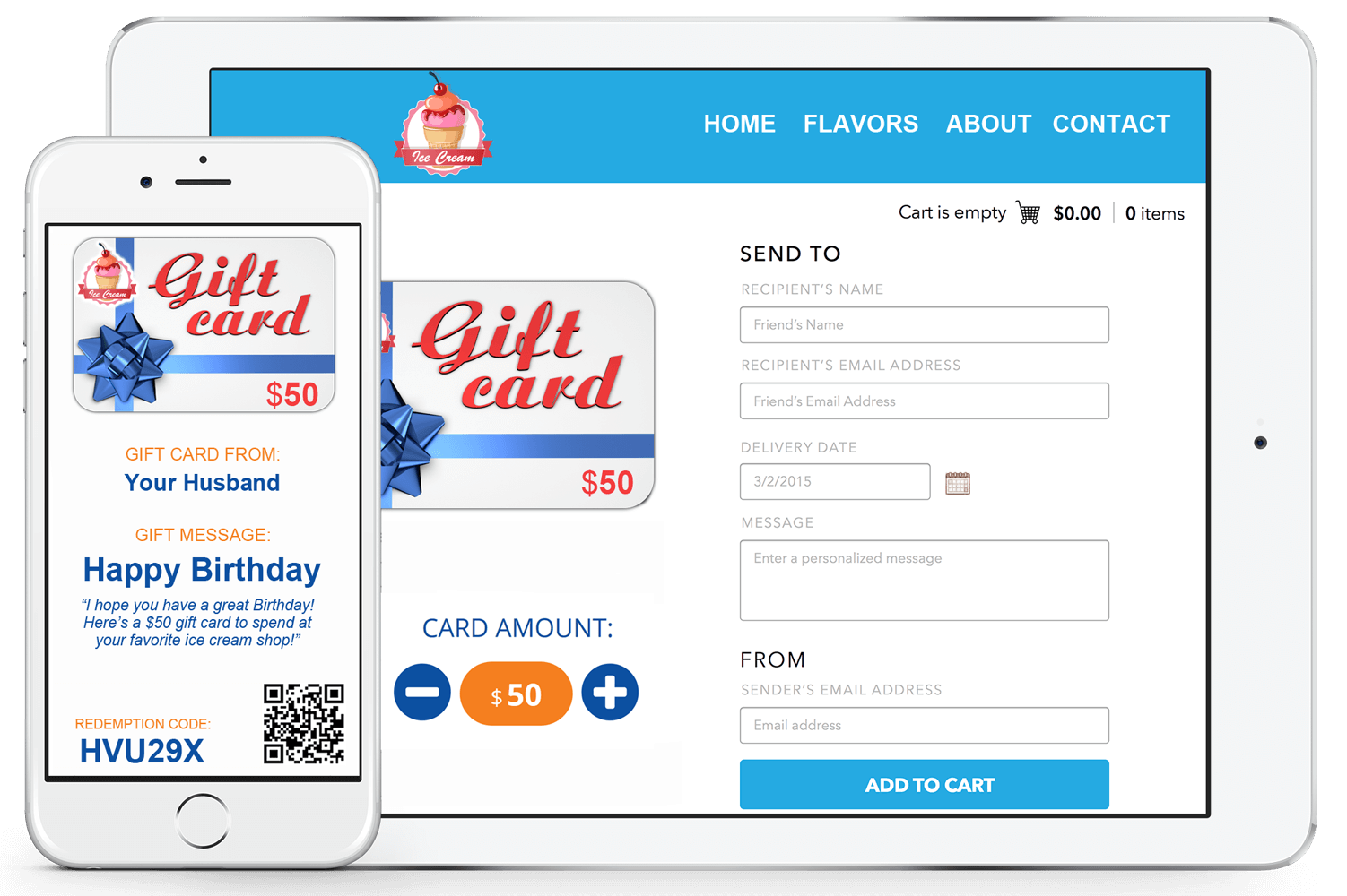 Custom e gift card platform offer your customers a digital e gift card option which is free to use instantly enable your website for sales by creating custom banners and images to colourmoves